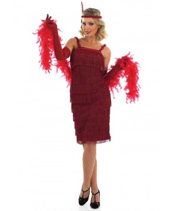 Roaring 20's Red Flapper Girl 2399