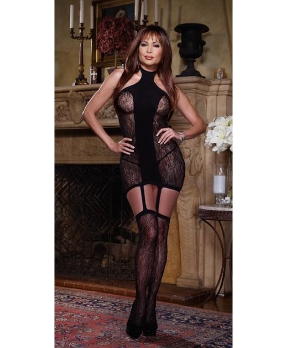 Naples - Lace Opaque suspender dress