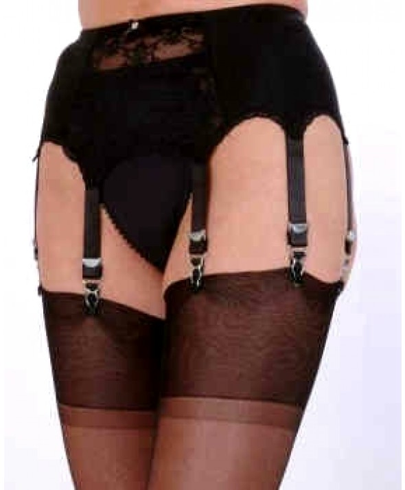 8 Strap Lace Panel Vintage Suspender Belt