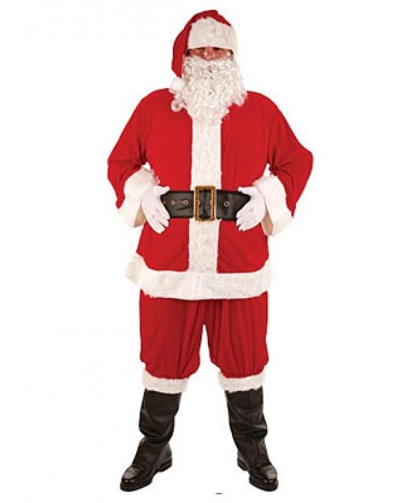 Super Deluxe 8pc Christmas Santa Suit