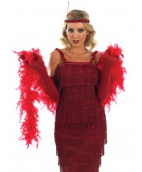 Roaring 20's Red Flapper Girl