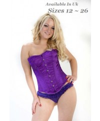 Crazy Chick Full Bust Purple Corset