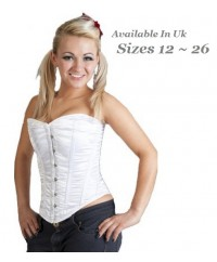 Crazy Chick Full Bust White Corset