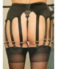 14 Strap Stunning Black Vintage Suspender Belt