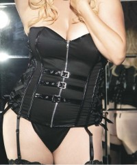 PATENT LEATHER TRIM CORSET