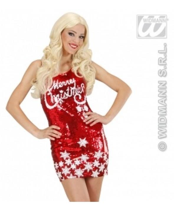 Red Sequin Santa