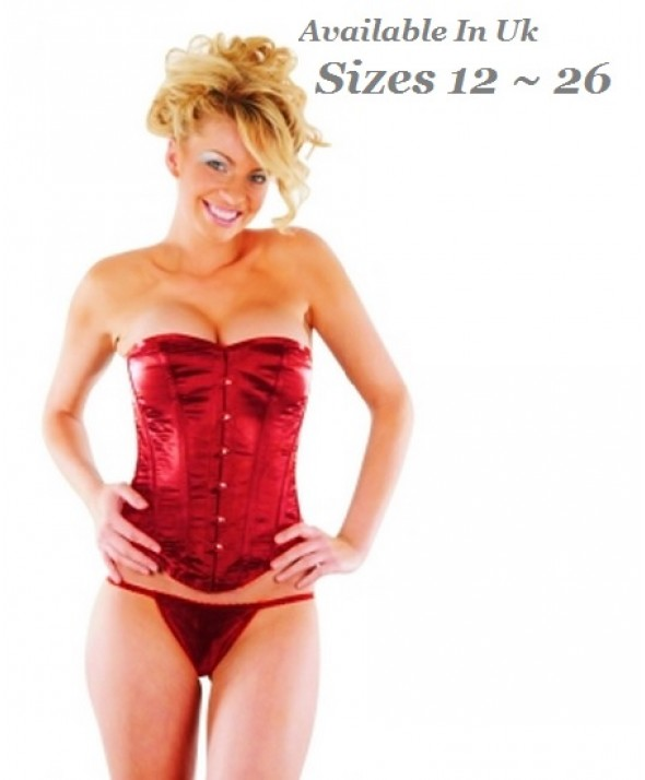 Crazy Chick Full Bust Red Corset