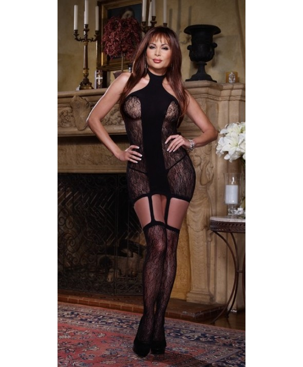 Naples - Lace Opaque suspender dress