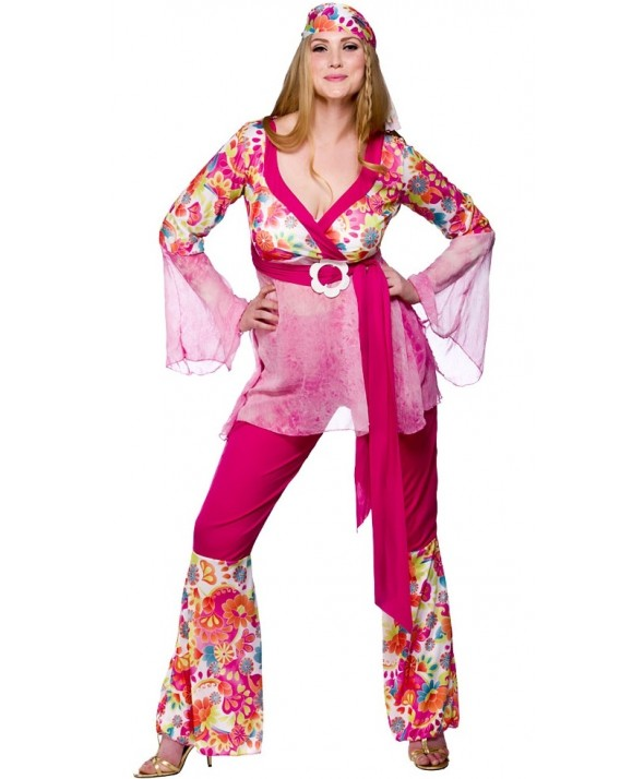 Groovy Hippie Chick | Plus Size Fancy Dress | EF-2021