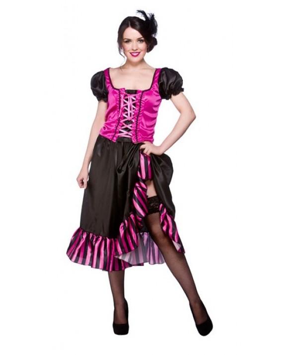 Pink Western Saloon Girl