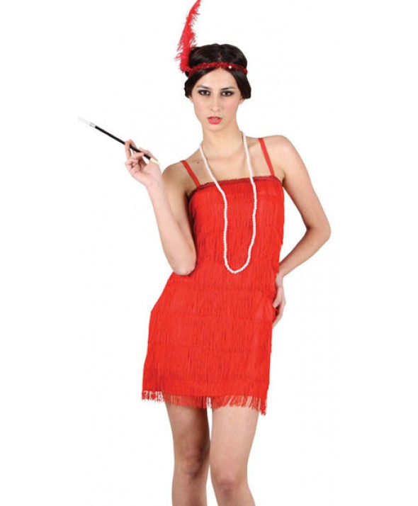 Red Showtime Flapper