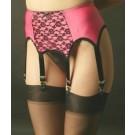 6 Strap Pink Vintage Suspender Belt