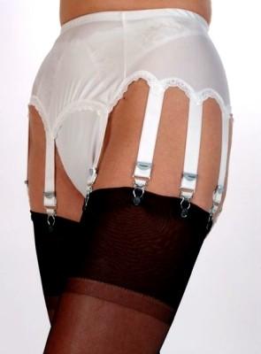 10 Strap Plain Panel Vintage Suspender Belt