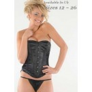 Crazy Chick Full Bust Black Corset