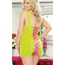Lime Lace up Chemise