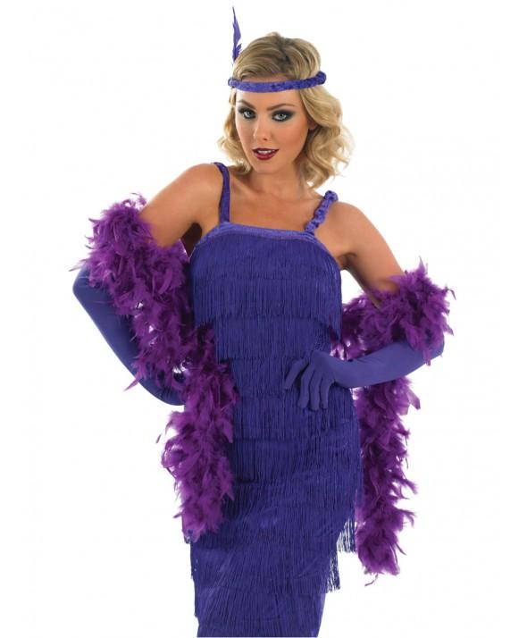 Roaring 20's Purple Flapper Girl