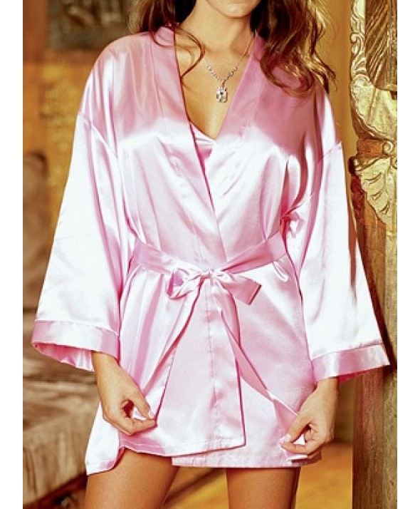 Shalimar Charmeuse Slip & Robe Set